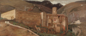 Art Prints of The Benedictine Cloister at Subiaco, Italy by Worthington Whittredge