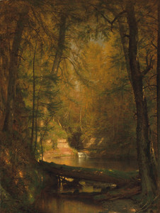 Art Prints of The Trout Pool by Worthington Whittredge