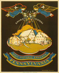 Art Prints of Visit Historic Ephrata, Pennsylvania, 1939, WPA Poster