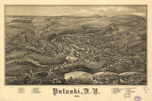 Art Prints of Pulaski, New York, Bird's Eye View by an Unknown Artist