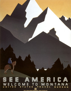Art Prints of See America, Welcome to Montana (399154), Travel Poster