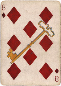 Art Prints of Playing Card, 8 of Diamonds, Vintage Game Pieces & Playing Cards