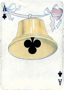 Art Prints of Playing Card, Ace of Clubs, Vintage Game Pieces & Playing Cards