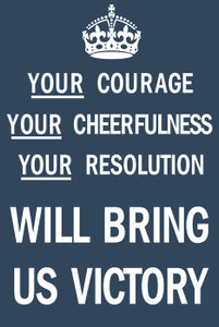 Art Prints of Courage, Cheerfulness, Resolution, War & Propaganda Posters