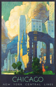 Art Prints of Chicago, New York Central Lines, Travel Posters