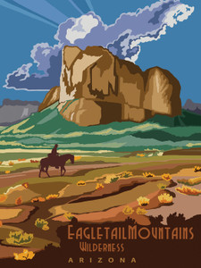 Art Prints of Eagletail Mountains Wilderness, Travel Posters