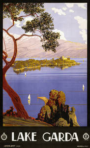 Art Prints of Lake Garda Travel Poster, Travel Posters| Art Posters & Prints