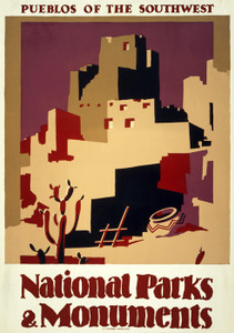Art Prints of Pueblos of the Southwest, 1935, Travel Posters
