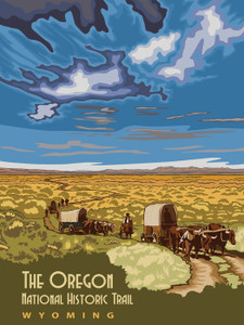 Art Prints of The Oregon National Historic Trail in Wyoming, Travel Posters