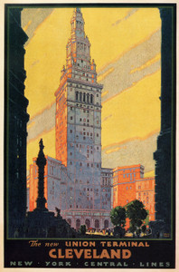 Art Prints of The New Union Terminal, Cleveland, 1930, Travel Posters
