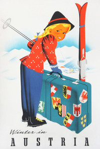 Art Prints of Winter in Austria, Travel Posters