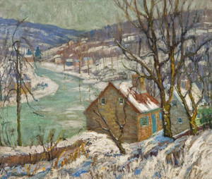 Art Prints of Winter on the Delaware by Fern Coppedge