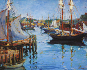 Art Prints of In the Harbor, Gloucester by Fern Coppedge
