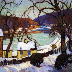 Art Prints of The Delaware in Winter by Fern Coppedge