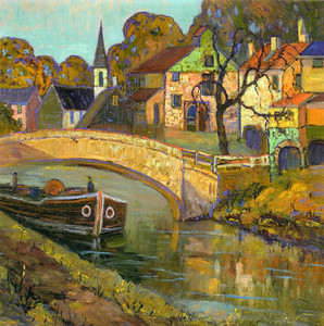 Art Prints of Canal Bridge, New Hope, Pennsylvania by Fern Coppedge