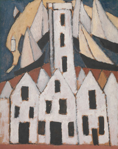 Movement No. 5, Provincetown Houses by Marsden Hartley | Fine Art Print