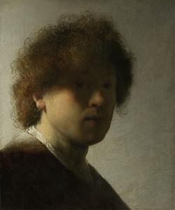 Art prints of Self Portrait as a Young Man by Rembrandt van Rijn