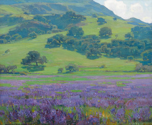 Lupine Patch by William Wendt | Fine Art Print