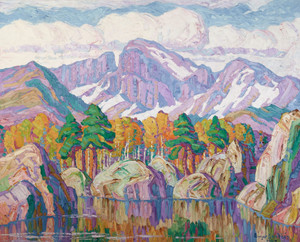Art prints of A Mountain Symphony, 1927 by Birger Sandzen.