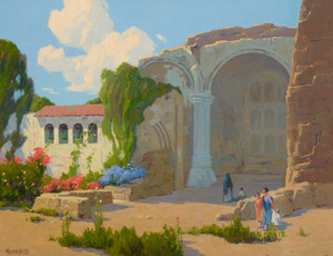 Art Prints of Visitors to Mission San Juan Capistrano by Elmer Wachtel