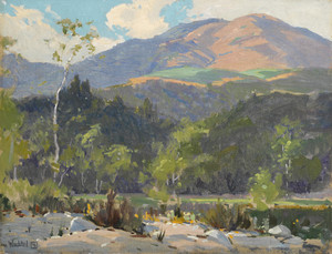 Art Prints of Hills in the Sunlight by Elmer Wachtel