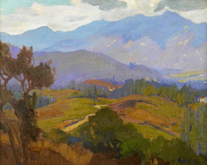 Art Prints of Houses near Pasadena, looking West by Elmer Wachtel