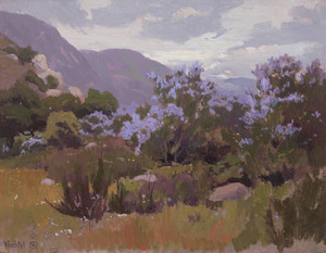 Art Prints of Lupines in the Mist by Elmer Wachtel