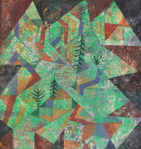 Art Prints of Forest Construction by Paul Klee