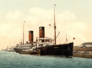 Art Prints of the R.M.S. Campania of the Cunard Line