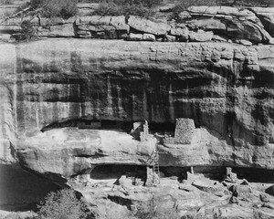Art prints of Cliff Dwellings, Mesa Verde National Park, Colorado by Ansel Adams
