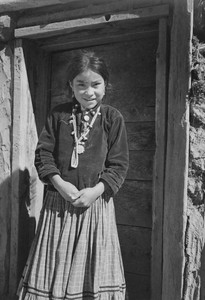 Art prints of Diné Girl, Canyon de Chelly, Arizona by Ansel Adams