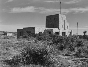 Art prints of Distant view of Elevator House, Carlsbad Caverns National Park, New Mexico