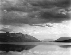 Art prints of Evening, McDonald Lake, Glacier National Park, Montana II by Ansel Adams