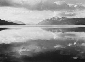 Art prints of Lake and mountains, McDonald Lake, Glacier National Park, Montana