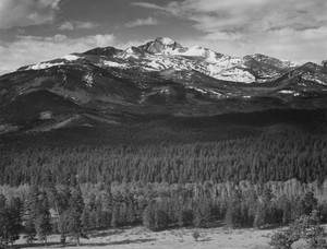 Art prints of Long's Peak from North, Rocky Mountain National Park, Colorado