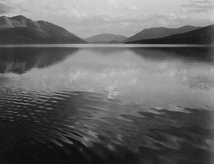 Art prints of Looking across lake, McDonald Lake, Glacier National Park, Montana