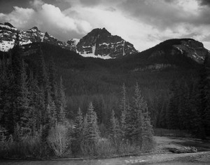 Art prints of Mountains, Northeast Portion, Yellowstone National Park, Wyoming by Ansel Adams
