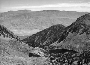 Art prints of Owens Valley from Sawmill Pass, Kings River Canyon by Ansel Adams