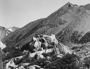 Art prints of Peak near Rac Lake, Kings River Canyon by Ansel Adams