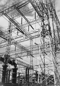 Art prints of Photograph Looking Up at Wires of the Hoover Dam (aka Boulder Dam) Power Units by Ansel Adams