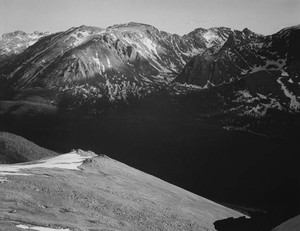 Art prints of Rocky Mountain National Park, Colorado, panorama of mountains and valley