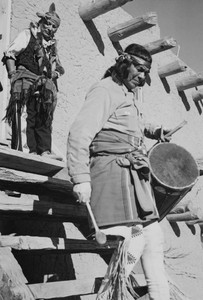 Art prints of Tewa with drum, Dance, San Ildefonso Pueblo, New Mexico, 1942