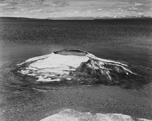 Art prints of The Fishing Cone, Yellowstone Lake, Yellowstone National Park, Wyoming by Ansel Adams