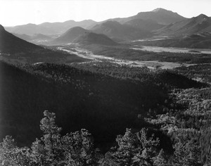 Art prints of Valley surrounded by mountains, In Rocky Mountain National Park, Colorado