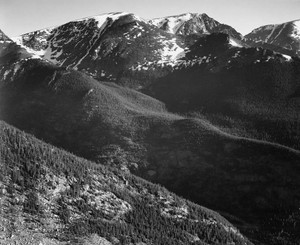 Art prints of View of hills and mountains, In Rocky Mountain National Park, Colorado