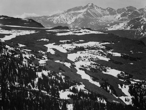 Art prints of View of plateau, Long's Peak, Rocky Mountain National Park, Colorado