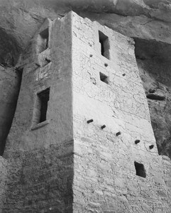 Art prints of View of tower, Cliff Palace, Mesa Verde National Park, Colorado by Ansel Adams