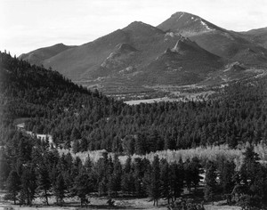 Art prints of View with trees in foreground, in Rocky Mountain National Park, Colorado