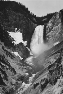 Art prints of Yellowstone Falls, Yellowstone National Park, Wyoming by Ansel Adams