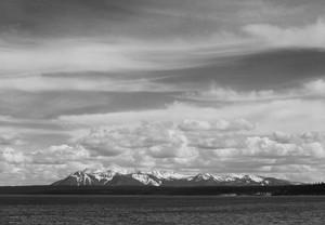 Art prints of Yellowstone Lake, Mt. Sheridan, Yellowstone National Park, Wyoming by Ansel Adams